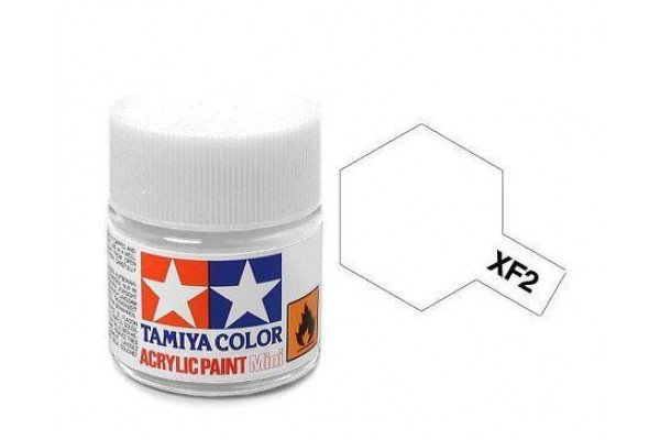 TAMIYA Acrylic Mini XF-2 Flat White 10 ml.